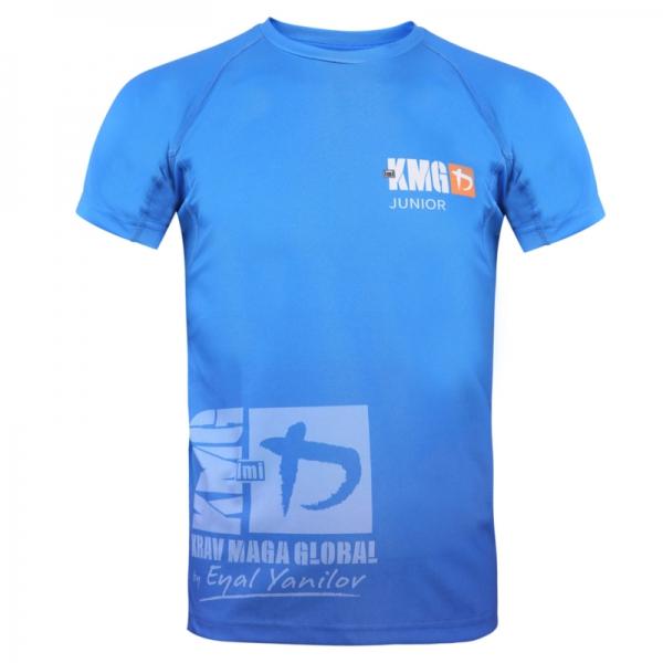 Krav maga KMG Performance T-shirt - Sublimatiedruk - Junior 11-13 jaar - Koningsblauw - Unisex