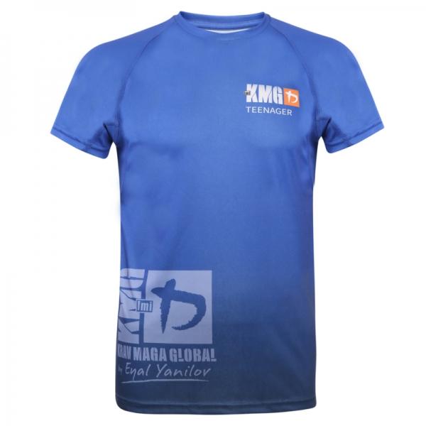 Krav maga KMG Performance T-shirt - Sublimatiedruk - Teenager 14-16 jaar - Dark Navy - Heren