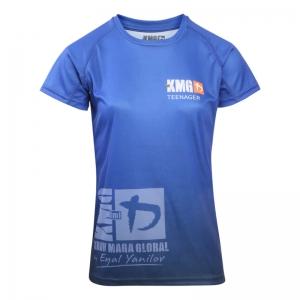 Krav maga KMG Performance T-shirt - Sublimatiedruk - Teenager 14-16 jaar - Dark Navy - Dames