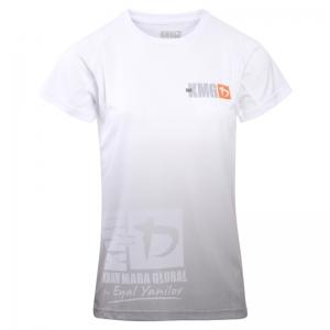 Krav maga KMG Performance T-shirt - Sublimatiedruk - Beginner-P1-P2 - Wit - Dames