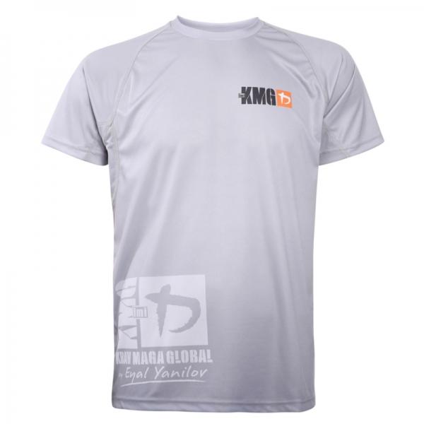 Krav maga KMG Performance T-shirt - Sublimatiedruk - P3-P4-P5 - Lichtgrijs - Heren