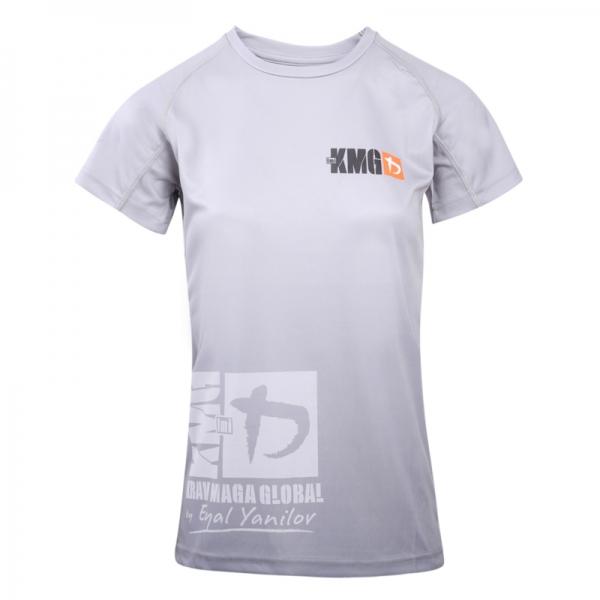 Krav maga KMG Performance T-shirt - Sublimatiedruk - P3-P4-P5 - Lichtgrijs - Dames