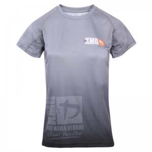 Krav maga KMG Performance T-shirt - Sublimatiedruk - G Levels - Donkergrijs - Dames